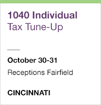 1040 Individual Tax Tune-Up, October 30