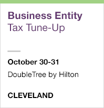 Business Entity Tax Tune-Up, October 30-31