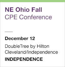 Northeast Ohio Fall CPE Conference, December 12