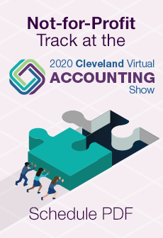 not-for-profit tack at the 2020 Cleveland Virtual Accounting Show Schedule PDF