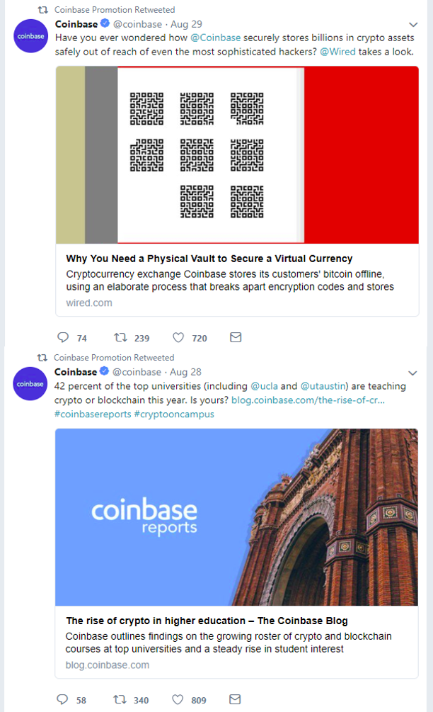 twitter - coinbase